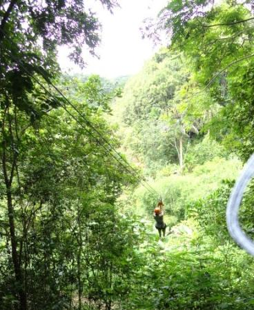 Batey Zipline Adventure: There I go