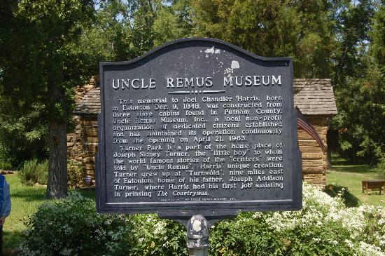 Uncle Remus Museum: Historical Marker