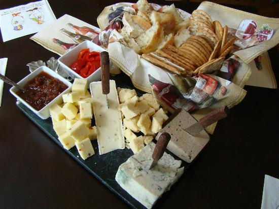 Hopkins Vineyard: The large cheese and crackers platter ($27)