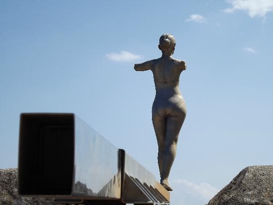 Elounda, Greece: Sculpture on top of fort