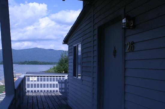 Golden Sands Resort on Lake George: Room with View. Table/chairs not visible.
