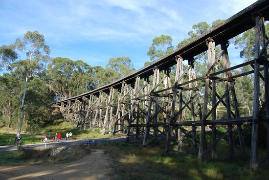 Orbost, Australia: Old rail bridge, East Gippsland Rail Trail