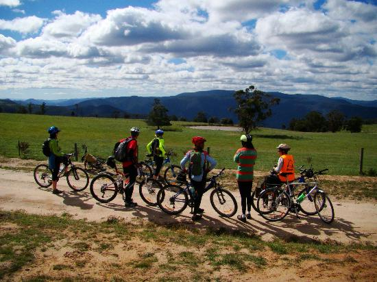 Snowy River Cycling Rail Trail Tours: Pausing for the view, Snowy River NP