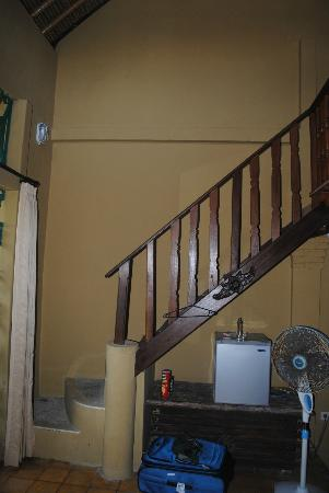 Three Brothers Bungalows: stairs to 2nd floor (deluxe fan room)
