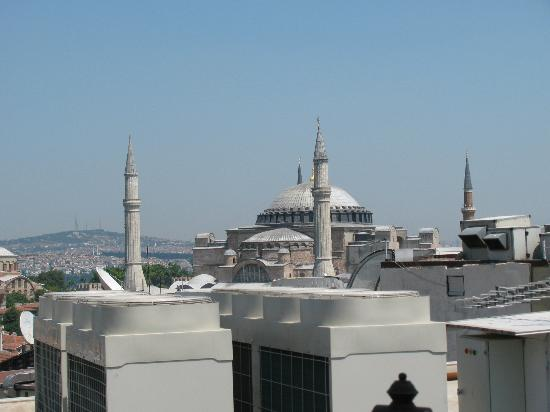 Aldem Hotel: View of Hajia Sophia from Terrace