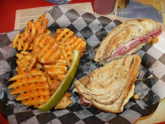 Michael's on Main: My Reuben sandwich with waffle potato fries