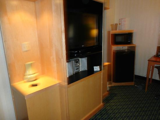 Fairfield Inn & Suites Belleville: TV & Fridge/Microwave in room 101
