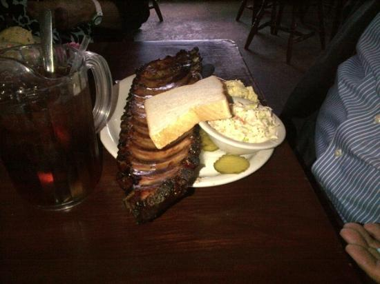 Texas Roadhouse: Huge and delicious baby back ribs - mesquite smoked!