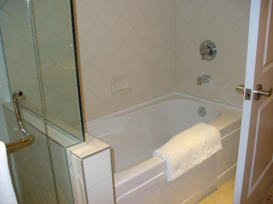 Residences at Sun Peaks Grand: shower and bath