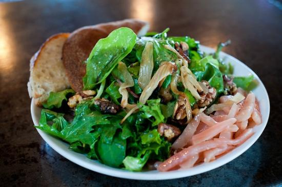 Cornerstone - Artisanal Pizza & Craft Beer: Cornerstone Sweet Salad, mixed greens, caramelized onions, beets and walnuts