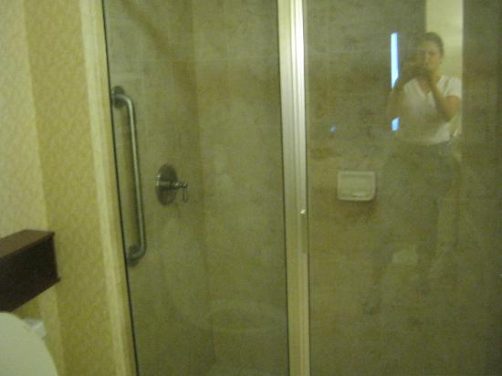Residence Inn Chapel Hill: Weird shower access.