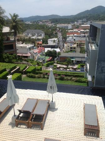 Sugar Palm Grand Hillside: View from the top to the main street