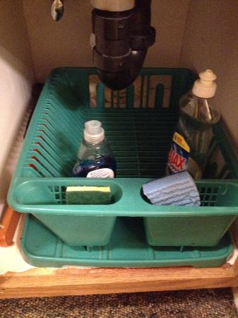 Pine Knot Guest Ranch: Under kitchenette sink