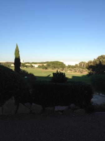 Quality Hotel du Golf Montpellier Juvignac: view from the outdoor lounge