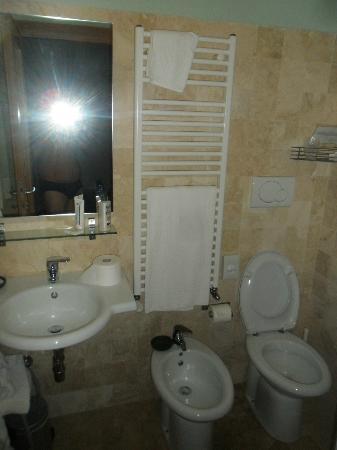 Hotel Poggio Bertino : Bagno spazioso e igenico.