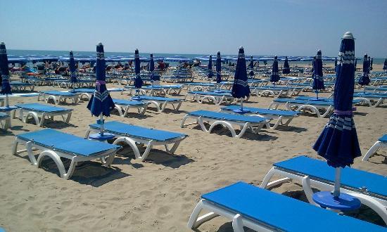 Marina di Pisticci, Italie : Ombrelloni e lettini in spiaggia