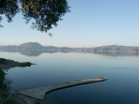 Milas, Turkiet: View at Lake Bafa from Hotel Silva Oliva
