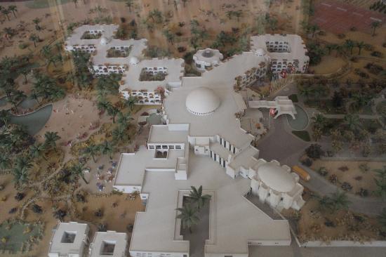 Djerba Plaza Hotel & Spa: maquette de l'hotel