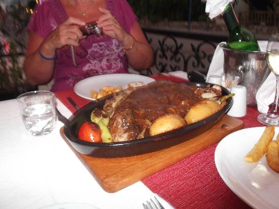 sidiks family restaurant : lamb meal for 2 with warmed mint sauce, slow cooked for 4-5 hours