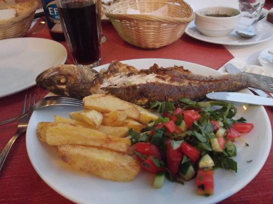 sidiks family restaurant : sea bass, caught fresh and beautiful taste