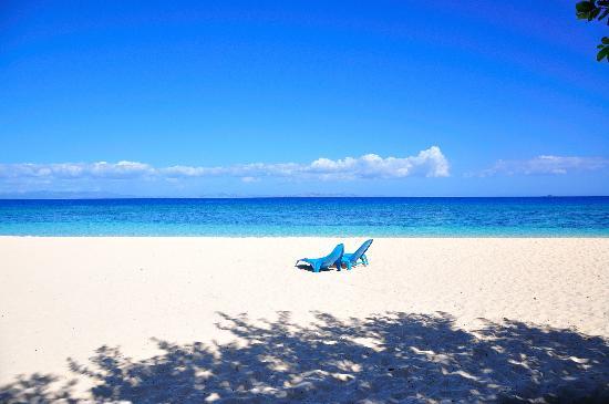 Navini Island, Fidschi: la spiaggia davanti a noi