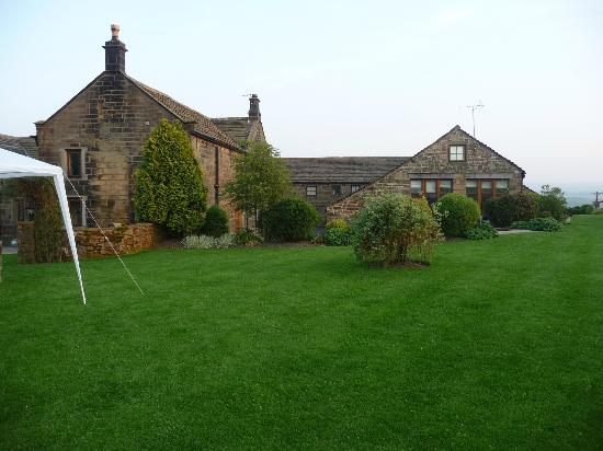 Smallshaw Farm Cottages: Rear of cottages and the gardens