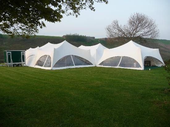 Smallshaw Farm Cottages: Our marquee in the paddock