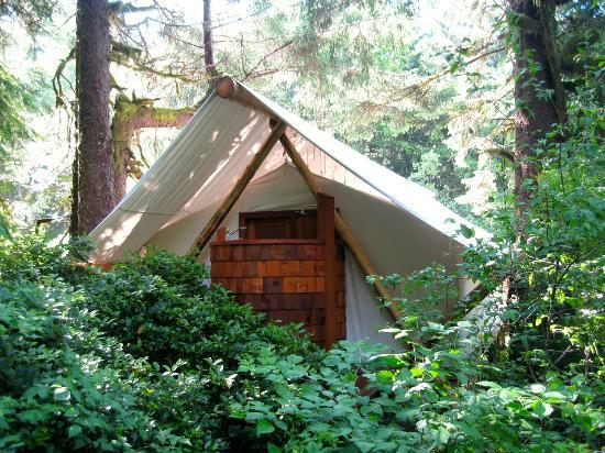 ‪‪Clayoquot Wilderness Resort‬: Tent with en-suite‬