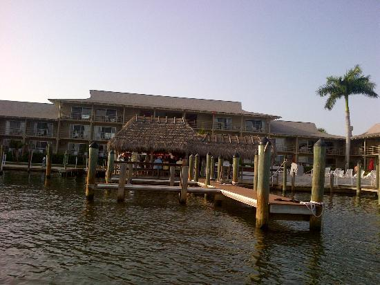 Cove Inn on Naples Bay: Tiki bar, from water taxi