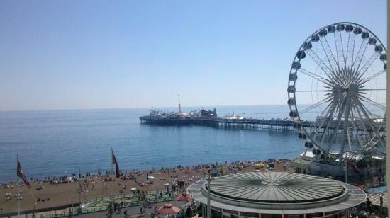 Legends Hotel: The view from our room towards the pier.