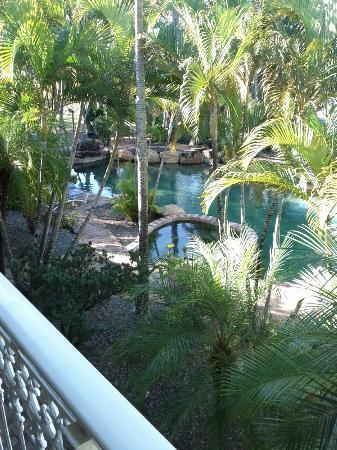 Colonial Palms Motor Inn: pool view from balcony