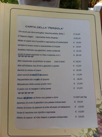 La pergola foto di la pergola dei paggi sestri levante for La pergola prezzi