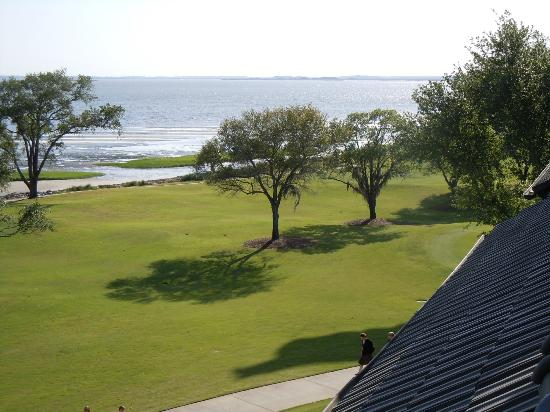The Lodge at Sea Island: Balcony view of 10th Hole