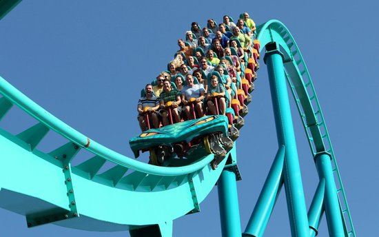 Vaughan, Kanada: Leviathan - Canada's tallest & fastest roller coaster drops riders from a height of 306 feet!