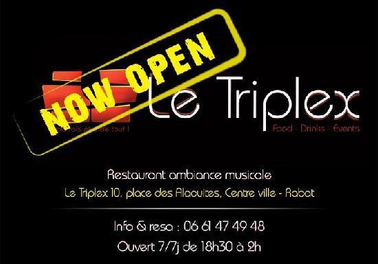 Le Triplex : Flyer ouverture