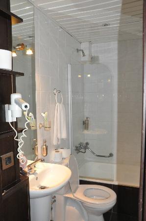 Hotel Residence Istanbul: bagno piccolo ma pulito