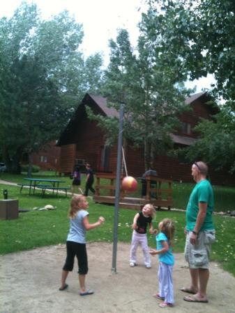 Rams Horn Village Resort: tether ball at Rams Horn