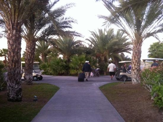 Paraiso Del Mar: Headed to the golf cart to take us to the condo