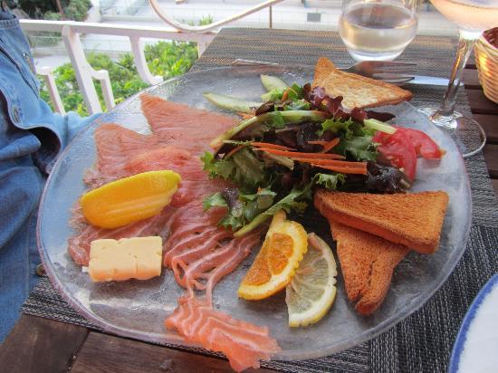 Restaurant Grand Baie : Assiette de saumon fumé