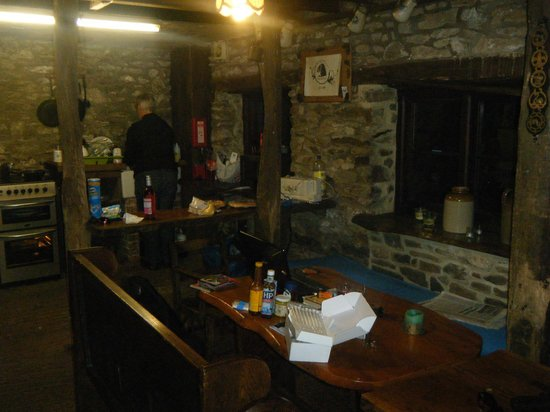 woods restaurant and wine bar: kitchen area in one of the barns.