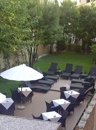 Hotel Moresco: Terrasse