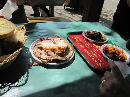 Lele Porchetta: Part of our delicious lunch