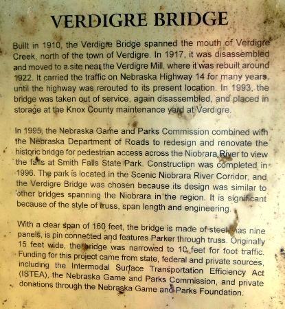 Niobrara State Park: Read all about the bridge that crosses the Niobrara River