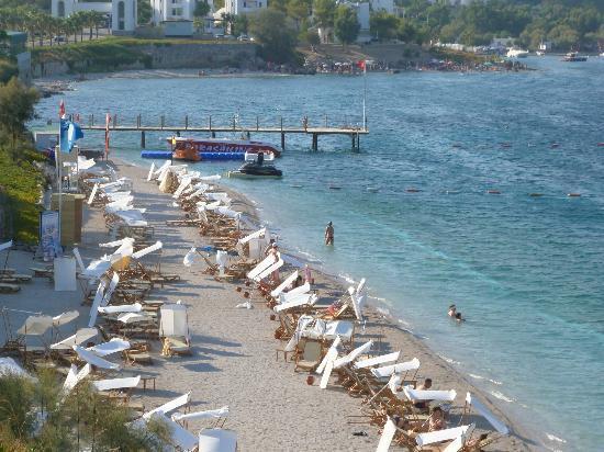 Xanadu Island: Hotel's beach area