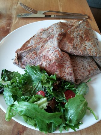 Rustic Roots: Crepe with side salad
