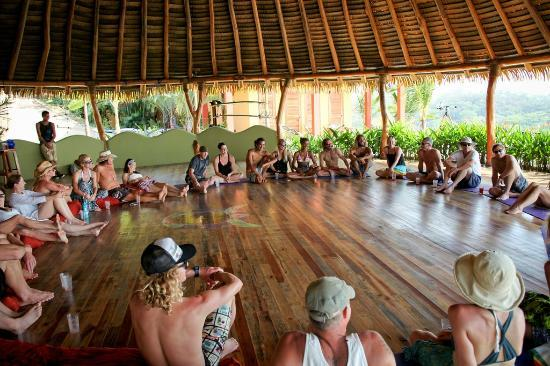Costa Rica Yoga Spa: class in session