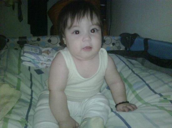 Wyndham Garden Guayaquil : en la habitacion mi nieto bello