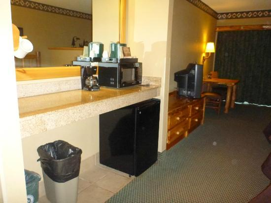 Great Wolf Lodge: microwave, fridge, and coffee maker