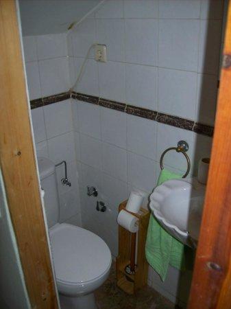 Los Castanos: Baño sin ventana, dentro de la habitación