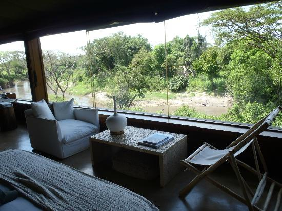 Singita Faru Faru Lodge: pano window